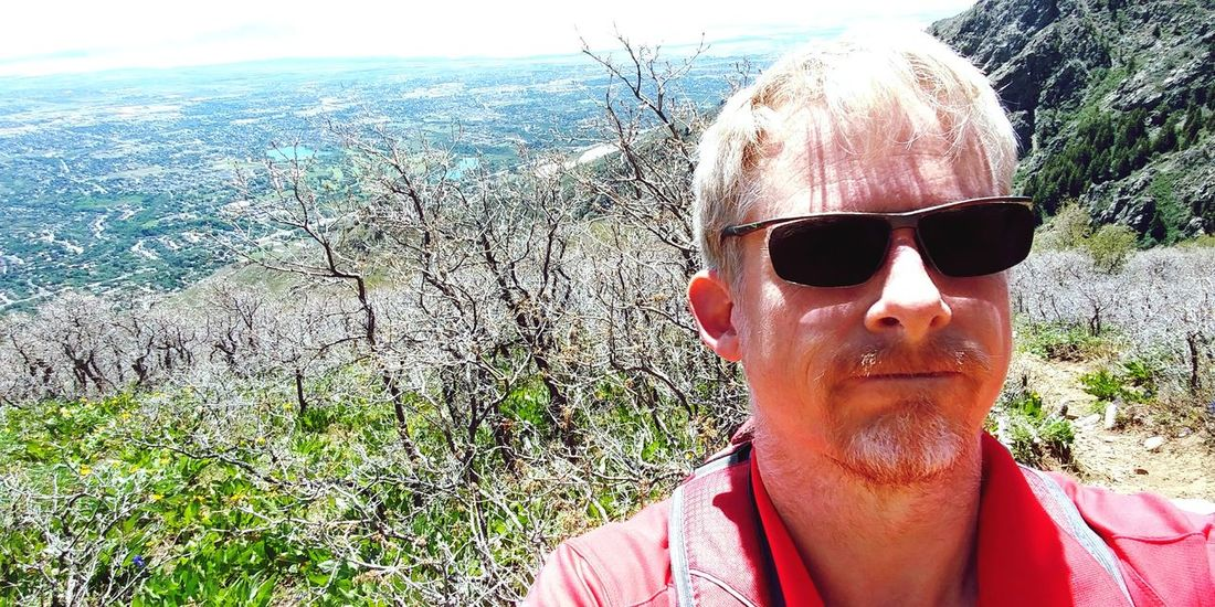 Sunglasses Day Outdoors Adult One Person Headshot Sky Nature WasatchFront Wasatch Mountains Trails Hiking Trail Above 6800 Ft