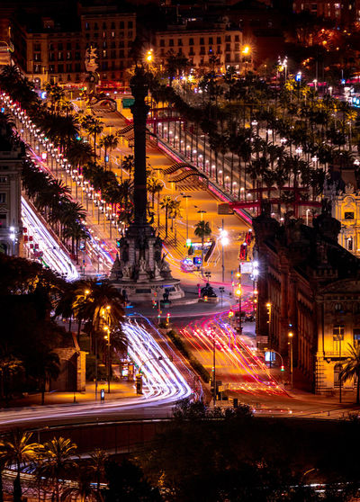 Long Exposure Longexposure Barcelona Drassanes Monument Business Light Lumière Illuminated Architecture Night City Building Exterior Built Structure Street Transportation Light Trail Motion Road High Angle View City Life Speed Building City Street Cityscape Street Light Mode Of Transportation No People Outdoors Abstract Art Photoart Creative Barcelona
