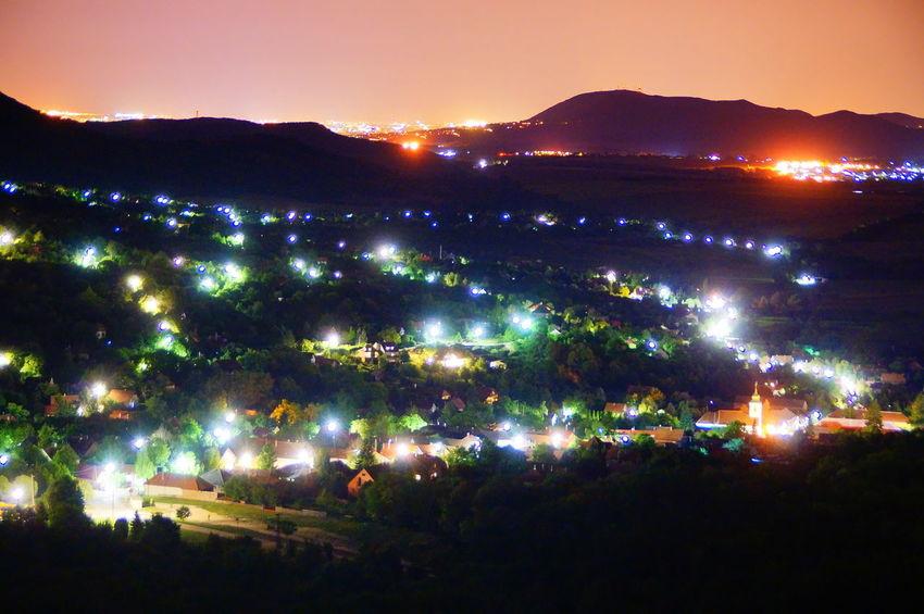 Village in the night Cityscape Dark Night Lights Nightphotography Orange Sky Road Cityscape Illuminated Lamp Landscape Long Exposure Night Night View No People Outdoors Pilis Pilisszántó Rural Scene Scenics Streetlights Sunset Village Villagescape
