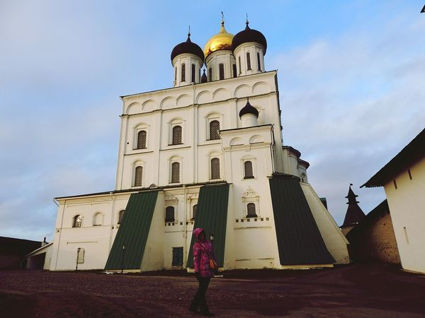 Architecture Pskov Saint Place Church Cathedral Jorney Russia Great View