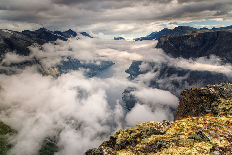 Norway Fjord Sea Sky Cloud - Sky From Above  Mountain Beauty In Nature Scenics - Nature Tranquil Scene Tranquility Mountain Range Non-urban Scene Environment Idyllic No People Nature Day Landscape Remote Cold Temperature Rock Winter Outdoors Mountain Peak Snowcapped Mountain Formation
