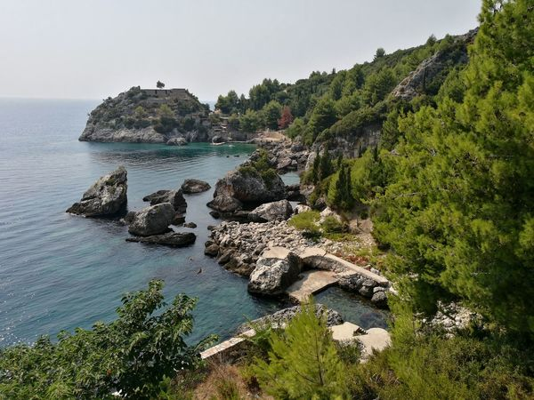 Beach Sea Sunlight Nature Scenics Vacations Outdoors Landscape Beauty In Nature Tranquility No People Sky Day Tree Seascape Seaside Adriatic Sea ALBANIA❤️ Albanian Naturelovers 👐 Albanian Beauty