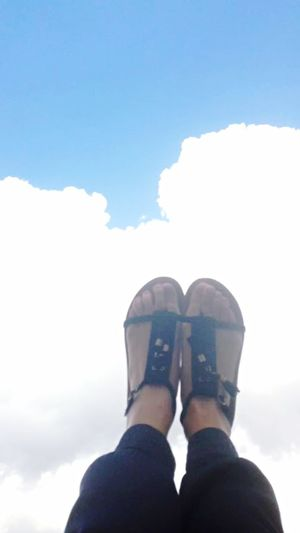 Stepping On Clouds Clouds Blue Sky Feet Up In The Air