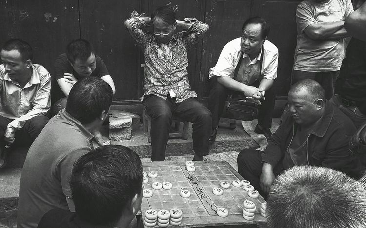Chinese Chess B&w Photography People Life