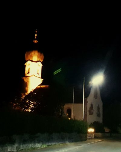Germany Bayern Krün Werdenfelser Land Oberbayern Alpenweltkarwendel Illuminated City Astronomy Light Beam Moon Sky