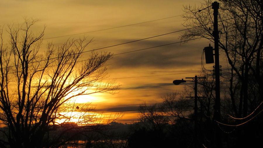 Last Nights Sunset Cadillac Sky Beautiful View Power Lines My Neighborhood Pure Michigan