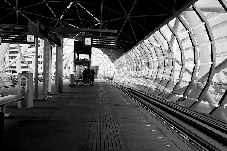 Station EyeEm Best Shots - Black + White EyeEmBestPics EyeEm Best Shots EyeEm Travel Architecture Light And Shadow Light Shadows & Lights Shadow Blackandwhite Photography Black & White Black And White Blackandwhite From My Point Of View Lines vanishing point Station Transportation Rail Transportation Architecture Built Structure Railroad Station Track Railroad Track Direction The Way Forward Travel Public Transportation Adventures In The City