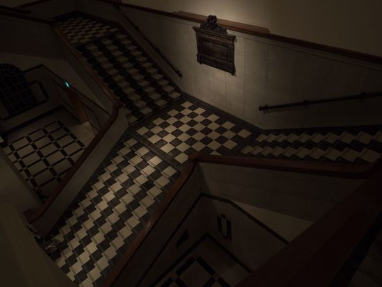 Architecture Checkered Pattern Colonial Indoors  No People Stairs