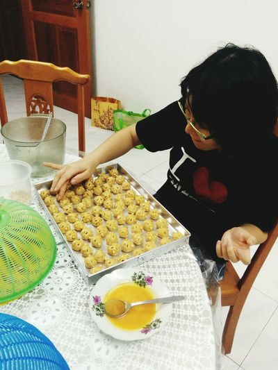 Cny Peanut Biscuit Wifey Is Making peanut biscuit