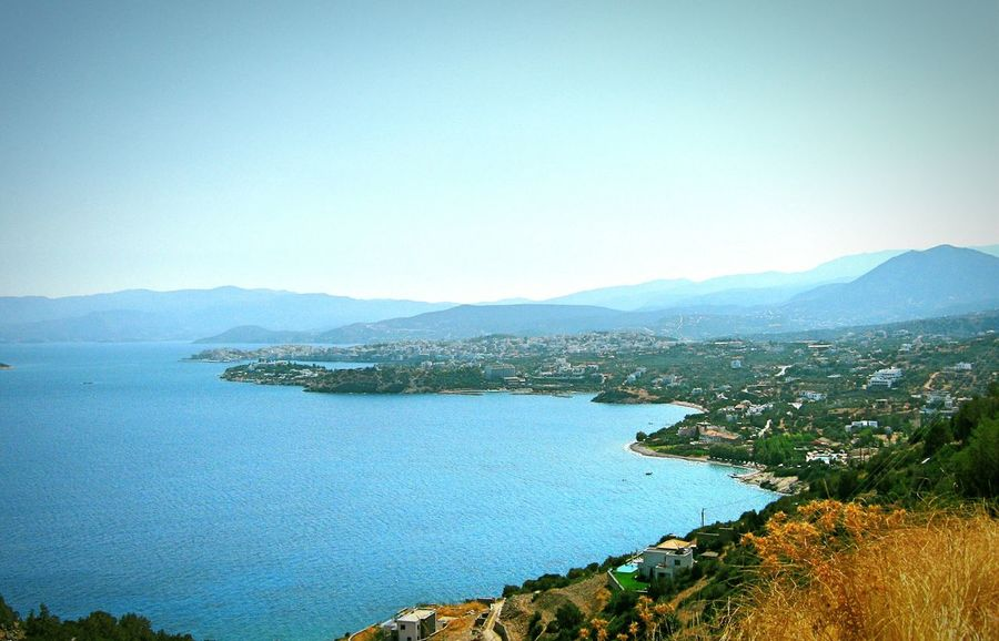 Taken by me on my old Canon camera back in September 2011. Summer Blue Wave Aegean AghiosNikolaos Crete Greece Europe 2011