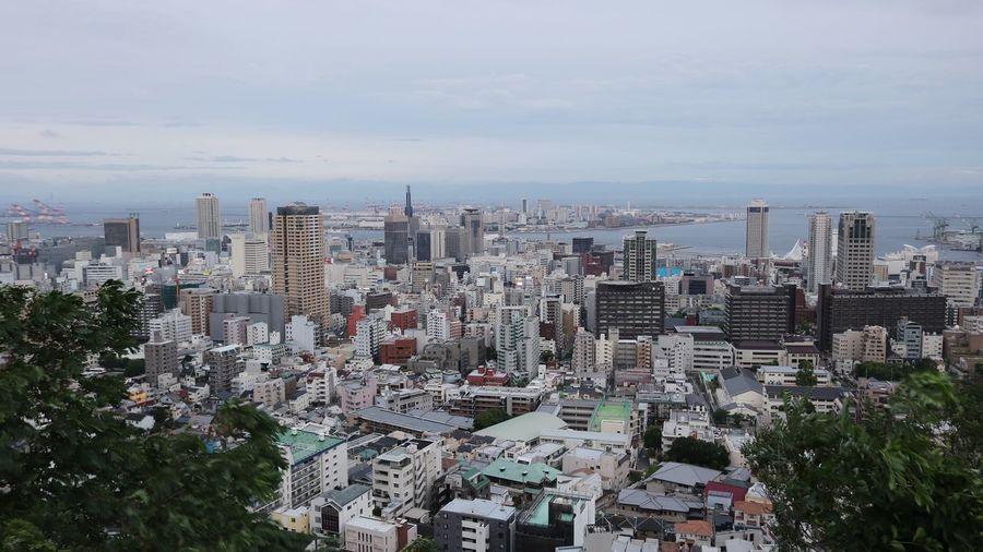 神戸の街 ビーナスブリッジから City Cityscape Urban Skyline Skyscraper Tree Modern Illuminated Aerial View Sky Architecture