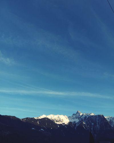 Ötztaler Alpen Bluesky Mountain Snow Cold Temperature Tree Winter Blue Snowcapped Mountain Sky Mountain Range Landscape