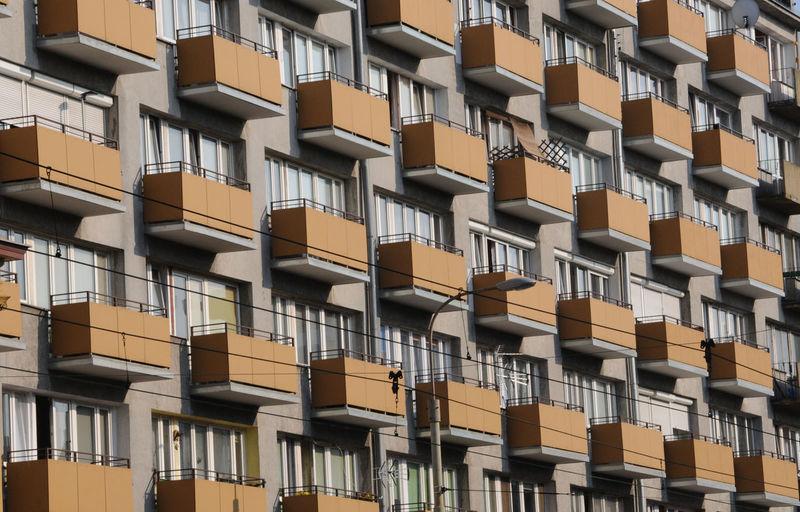 Balkone Architekturfotografie Balkone LinienfÜhrung Wohnhaus Wroclaw, Poland Balkony Polen