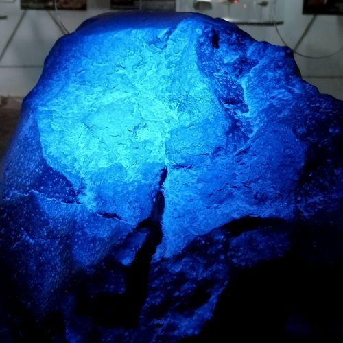 Meteor Close-up Blue Atacama Desert Space Rock Metallic