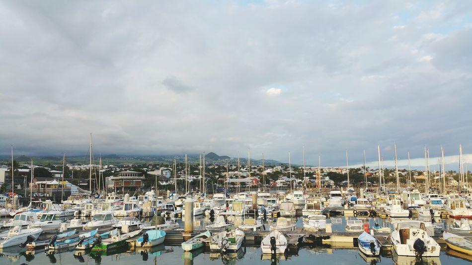 Port Boats Harbour Reunion Island Reunion  France Tropics Tropical Saint Pierre Indian Ocean