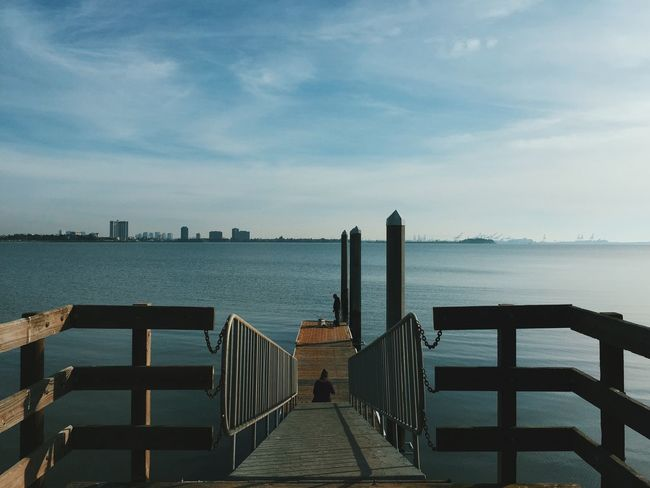 A peaceful moment from a bike ride last weekend. Pier Fishing Berkeley