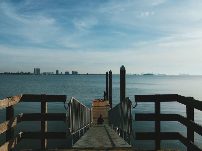 A peaceful moment from a bike ride last weekend. Pier Fishing Berkeley