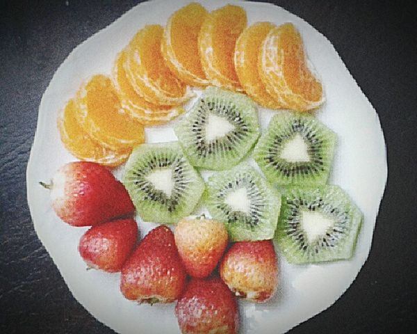 Fruit Kiwi - Fruit Food Directly Above Close-up Healthy Eating Sweet Food