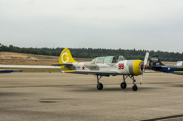 Air show with Yak-52 aircraft in Portugal