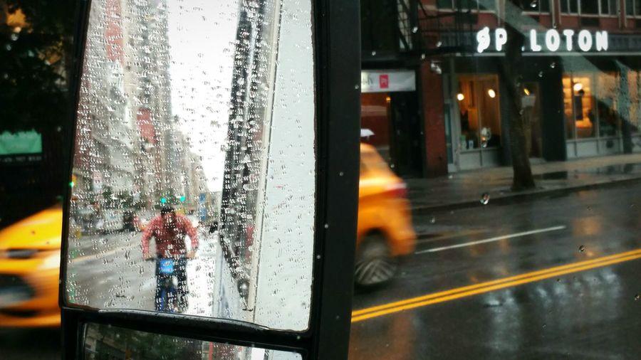 A RAINY DAY IN NYC Newyorkcity David Gutierrez Pixelperfectnyc Taxi Yellowcab Bikers New York