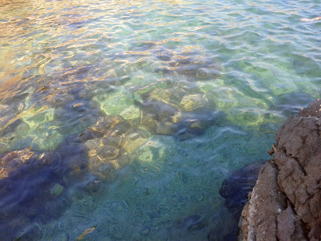 water, rock, solid, rock - object, sea, nature, no people, day, beauty in nature, high angle view, transparent, outdoors, underwater, tranquility, waterfront, motion, land, rippled, full frame, purity, shallow, pollution