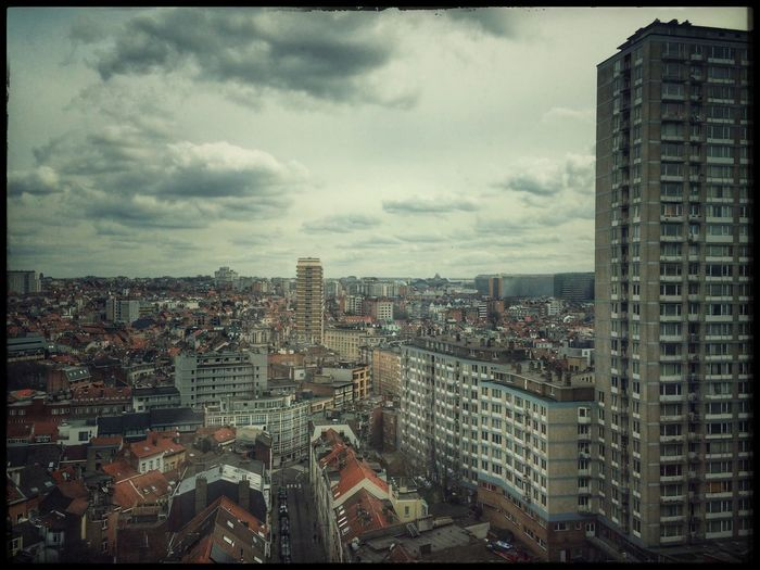 From above... City Cityscape City Life Downtown Architecture Outdoors Day Sky Clouds And Sky in Brussels