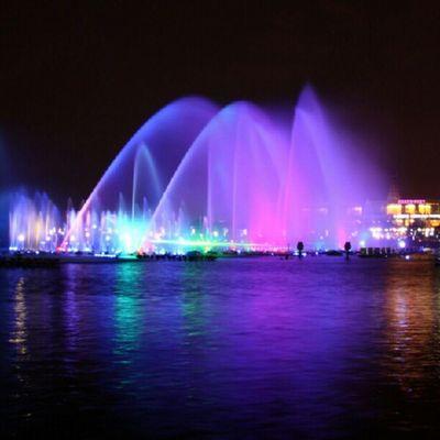 Night Nice Fountain Suzhou china