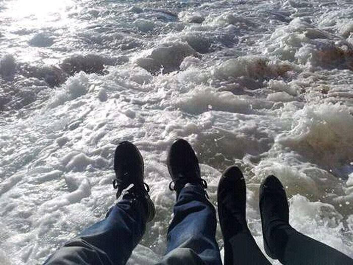 Walk In The Sea Enjoying Life