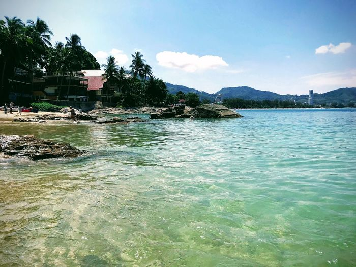 Thailand Phuket Tree Water Mountain Sea Palm Tree Beach Summer Tropical Climate Sky Architecture