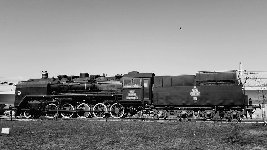 Day Sunny Outdoors Sky Clear Sky No People Nature Old Train Old Locomotive Steam Train Steam Locomotive Steamy