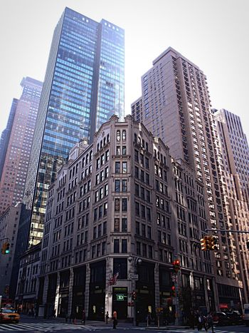 New York New York City Building Architecture Old Buildings Business District Small Between Big Between Buildings House USA EyeEmNewHere