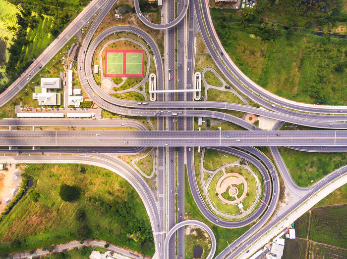 Aerial View Architecture Bridge - Man Made Structure Built Structure Car City Connection Day High Angle View No People Outdoors Traffic Transportation Travel Travel Destinations Tree