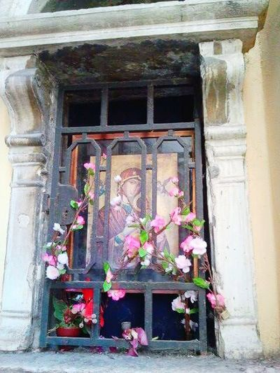 Architecture Built Structure Door Building Exterior No People Window Flower Outdoors Day Curtain Entrance Place Of Worship