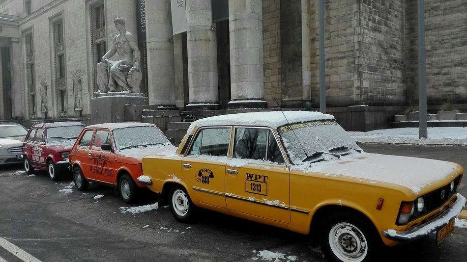 Colours in warsaw Car Yellow Taxi No People Day Outdoors