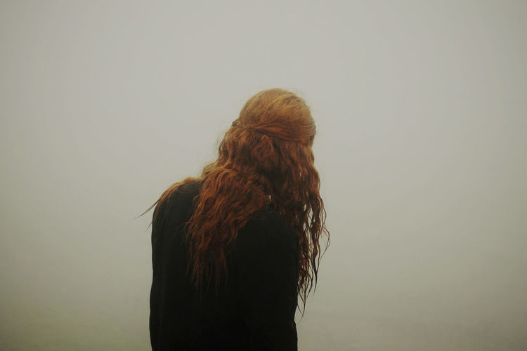 Portrait Color Portrait Fog Foggy Let Your Hair Down Uniqueness