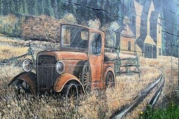Wall art Old Trucks Street Art Arlington, Wa
