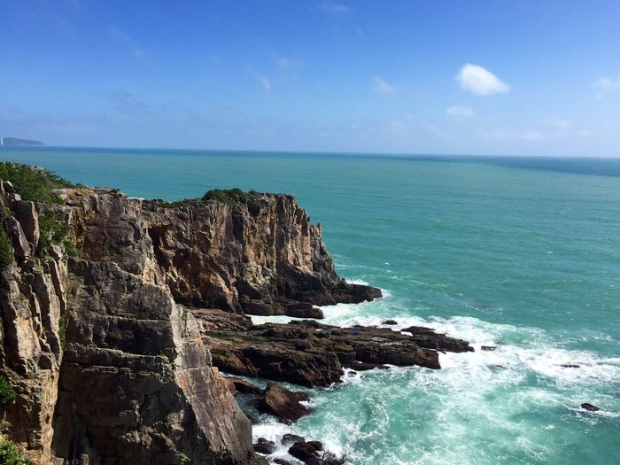 High High Angle View Gohigh Sea Horizon Over Water Sky Nature Beauty In Nature Water Go Higher Rock - Object Scenics No People Cliff Day Tranquility Outdoors Beach Tranquil Scene Blue Go Higher