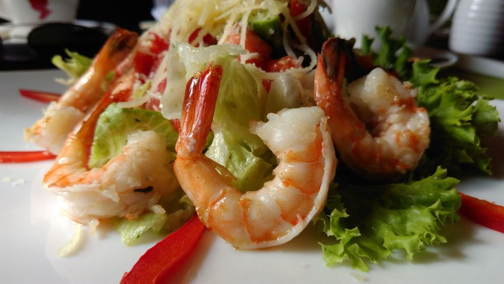 EyeEm Selects Seafood Food Food And Drink Appetizer Close-up Ready-to-eat Healthy Eating Freshness Modern Kitchen Prawn Salad SEAFOOD🐡 Salad