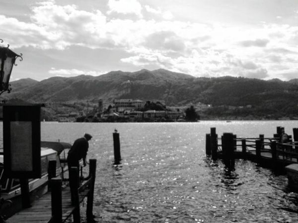 Blackandwhite Photography Italianeography Lake Lake View Landscape Lago D'Orta Orta S.Giulio Sky And Sea Italy Blackandwhite