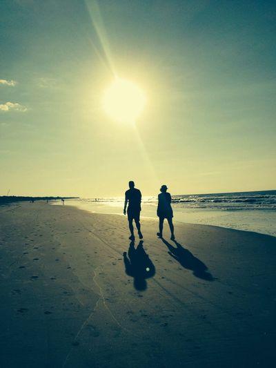 Beautiful sunrise this morning with Mrs. Darlene as we walked on the beach? Sunrise
