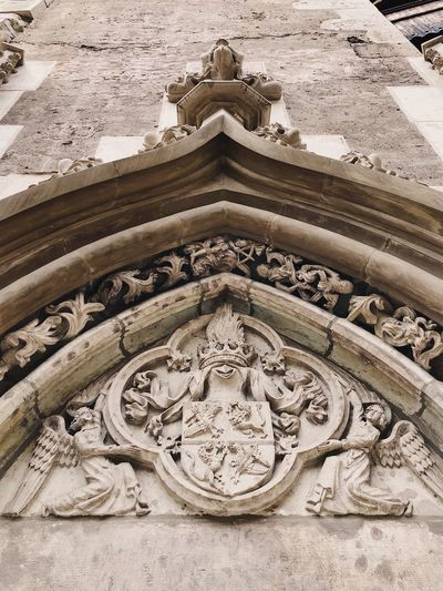 Stone heraldry 🏰... Sculpture Historical Building Middle Ages Travel Ancient Façade Stone Material Museum Castle Gothic Gothic Style Arch Medieval Heraldry Art And Craft No People Creativity Architecture Built Structure Craft History Pattern Design Full Frame Building Backgrounds Building Exterior Representation Carving - Craft Product Text