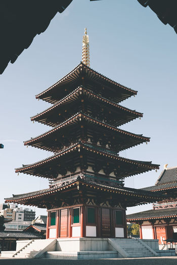 Beautiful Japan Architecture Built Structure Building Exterior Building Sky Place Of Worship Religion Belief Low Angle View Spirituality Day Clear Sky Nature No People Travel Destinations City Pagoda Outdoors Spire  Ornate