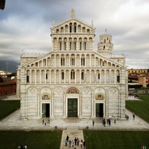 Pisa cathedral facade against sky