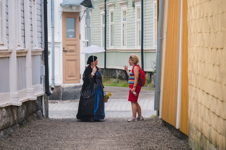 Architecture Baltic Colors Cosplay Dress Finland Houses Nature Nature Photography Old Town Art Building Building Exterior Europe History North Outdoors Road Trip Umbrella
