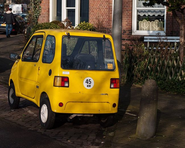 Yellow Land Vehicle Building Exterior Streetphotography City Outdoors Day Mode Of Transport Transportation Amsterdam Nikon Eye4photography  EyeEm Best Shots Colorful Sun Afternoon