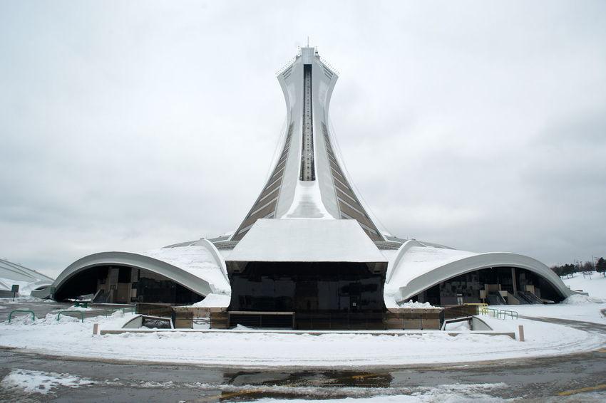 Canada Montréal Olympic Stadium White Color Tourism Architecture Winter
