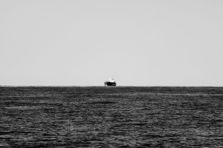 Baltic Sea Beauty In Nature Clear Sky Day Horizon Over Water Mode Of Transport No People Ostsee Outdoors S/w Sailing Sea Ship Sky Trzoska Water Waterfront