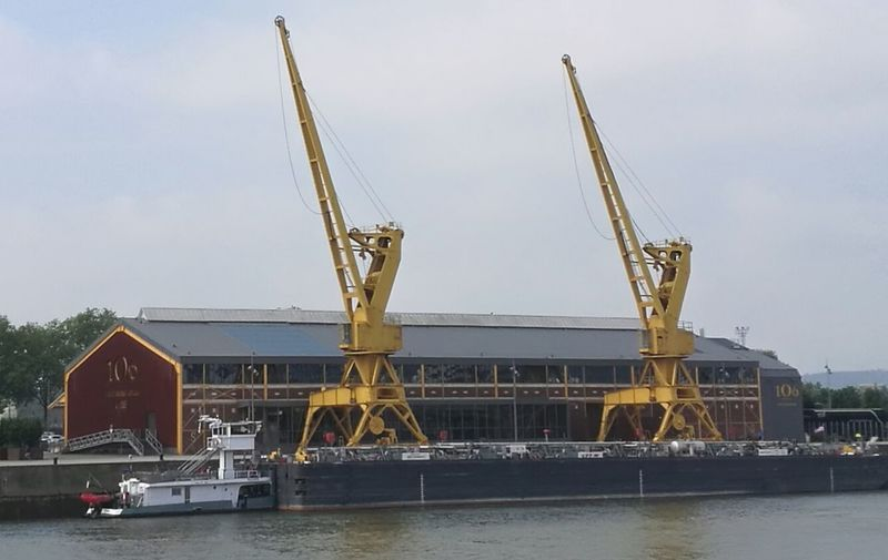 Water Business Finance And Industry Golf Club Nautical Vessel Sea Crane - Construction Machinery Ship Sky Architecture Built Structure
