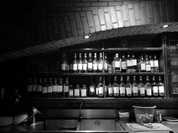 Brick Bar Khaosarn Rd. Alcohol Blackandwhite Khaosarn Thailand Thailandtravel