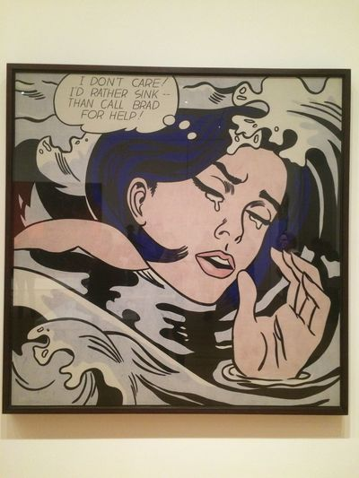 Drowning Girl Pop Art Cool Artsy Painting Moma NYC Girl